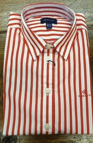 GANT Broadcloth Striped Shirt - Bright Red