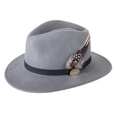 Hicks and Brown Grey Fedora Hat