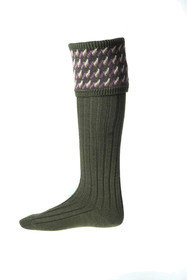House of Cheviot - Tweedy Country Socks and Garter Ties (Spruce)