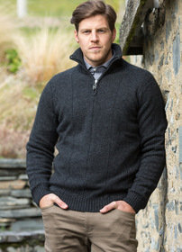 Noble Wilde Javelin Zip Neck - Maritime (Navy)